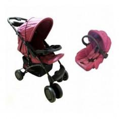Cărucior nou născut 2 in 1 Baby Care K 719A - Fucsia