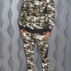 Trening GalatiFashion camuflaj pantaloni + bluza toamna 2017 - Trening barbati, Marime: S, M, L, XL, XXL, Culoare: Din imagine, Bumbac