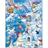 Set 2 Puzzle-Uri Arctica, 17 Piese Larsen