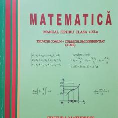 MATEMATICA MANUAL PENTRU CLASA A XI-A TC + CD - Mircea Ganga (3 ore) - Carte Matematica