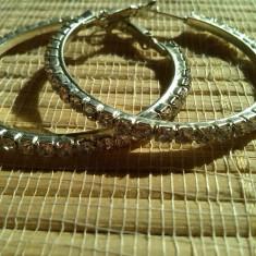 Cercei gold filled cu cristale - Cercei placati cu aur
