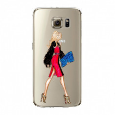 Husa din silicon pentru Samsung S6 Edge Diva in Red, transparent - Husa Telefon