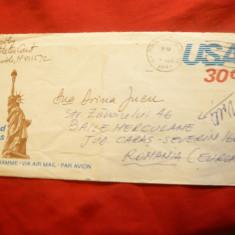 Aerograma SUA cu imagini turistice 1980