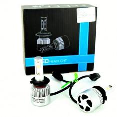 Set Bec H7 cu LED S2 chip led Korea Putere: 40W - 4800 lumen 6000k 12-24v - Led auto, Universal