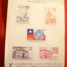 Vigneta -Reclama pt. Expozitia Filatelica UPAE-X 1971 - Reclama Tiparita