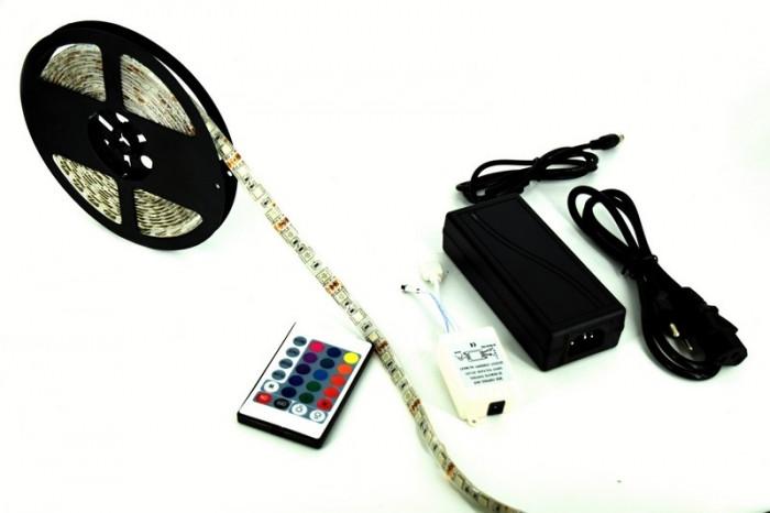 Banda LED 5m RGB 5050 kit Complet Telec.+Controller+Sursa AL-140807-13