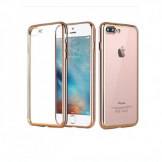 Husa din silicon Electroplating pentru Iphone 7 Plus, auriu - Husa Telefon