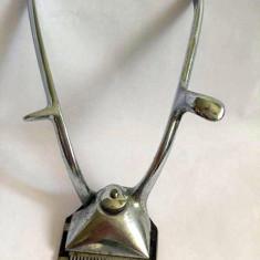 Masina tuns veche, de mana, metal INOX, marca Solingen Alcoso, 14.5cm lungime