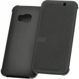 Husa flip activa HTC M9 dot view, black - Husa Telefon