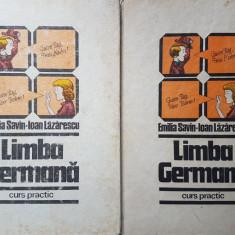 LIMBA GERMANA. CURS PRACTIC (Vol. I + Vol. II) - Emilia Savin, Ioan Lazarescu - Curs Limba Germana