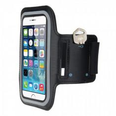 Husa armband telefon pentru brat universala 6.2 inch, negru - Husa Telefon