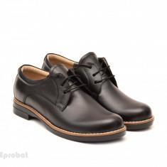 Pantofi dama casual-eleganti din piele naturala cod P75 (Negri si Maro)