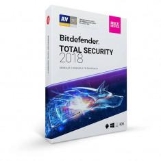 BitDefender Total Security 2018 1 an 3 PC New License Retail Box - Antivirus