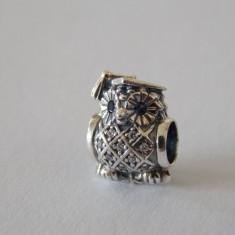 Talisman Pandora autentic 791502NSB Bufnita - Pandantiv argint