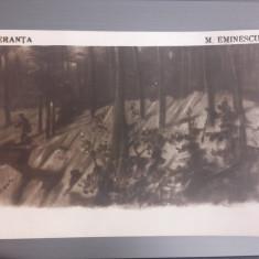 MIHAI EMINESCU, CARTI POSTALE INTERBELICE, SALMEN - Carte postala tematica, Circulata, Printata