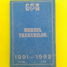 MERSUL TRENURILOR DE CALATORI = 1991-1992 - Ghid de calatorie