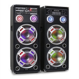 Fenton / Skytec KA-210 aktives Karaoke-PA-Lautsprecher Set USB SD AUX - Echipament karaoke