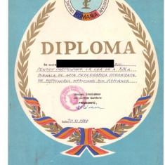 Diploma Bienala a fotoclubului medicilor din Romania, 1988 - Diploma/Certificat