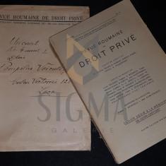 TRAJAN R. IONASCU, REVUE ROUMAINE DE DROIT PRIVE (ANUL I, NUMARUL 4), BUCURESTI, 1938 - Carte Drept comercial
