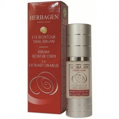 Crema contur ochi cu extract de melc 30ml, Herbagen - Crema conturul ochilor
