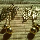 Cercei gold filled cu fluturi