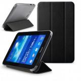 Husa de protectie flip cover SAMSUNG SM-T110 Galaxy Tab 3 Lite 7.0 inch, black - Husa Tableta