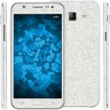 Folie autocolanta cu sclipici pentru Samsung Galaxy J7 J710 2016, argintiu - Folie de protectie