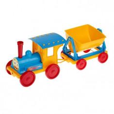 Trenulet pentru copii Doloni albastru cu galben