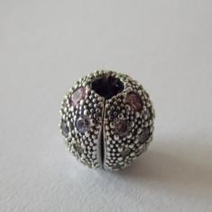 Talisman Pandora autentic 791286PCZMX Stele in Spatiu Roz Pal - Pandantiv argint