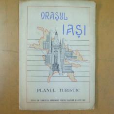 Orasul Iasi planul turistic 1965 editat de comitetul pentru cultura si arta Iasi