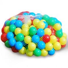 Set 200 bile colorate pentru piscina bile - Casuta/Cort copii, 12-28 luni, Unisex, Multicolor, Plastic