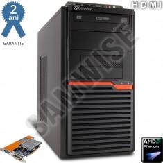 Calculator AMD Phenom II X3 B75 3GHz 4GB DDR3 250GB 8400GS 512MB (1GB) HDMI DVD - Sisteme desktop fara monitor Acer, Peste 3000 Mhz, 200-499 GB, AM3