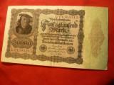 Bancnota 50 000 Marci  1922 , Germania,burelaj violet