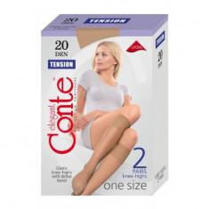 Sosete 3/4 lycra cu banda de sus anatomica Tension 20 Den, Conte Elegant - Sosete dama