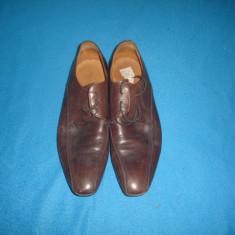 PANTOFI DE PIELE PAOLO SARTORI ORIGINALI - Pantofi barbat, Marime: 41, Culoare: Din imagine, Piele naturala