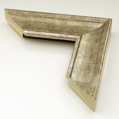 Oglinda decorativa lemn, 60 x 90cm, H536 argintiu, Holzart - Oglinda baie, Dreptunghiulara, Cu rama