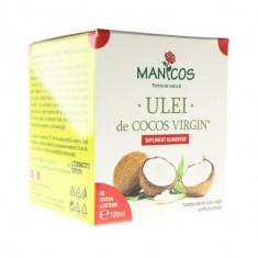 Ulei de cocos virgin 175 ml, Manicos - Crema de fata