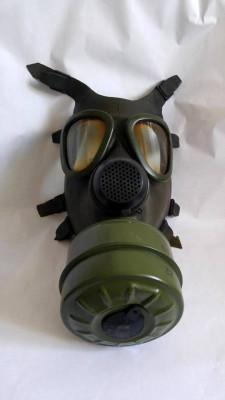 Masca de gaze, anii '80, cu cartus, colectie, decor, proiect arta instalatie foto