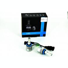 Set Bec H11 cu LED S2 chip led Korea Putere: 40W - 4800 lumen 6000k 12-24v