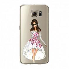 Husa din silicon pentru Samsung S6 Edge Runway Diva, transparent - Husa Telefon