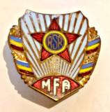INSIGNA MFA MINISTERUL FORTELOR ARMATE RSR ARMATA MApN