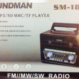 Radio Retro Cu Telecomanda si mp3 player stick - Aparat radio, Digital