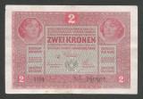 AUSTRIA  AUSTRO-UNGARIA 2  KRONEN KORONA COROANE  1917  [8]   P-21 ,  VF