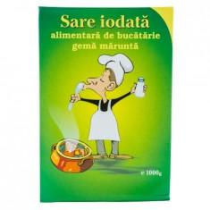 Sare alimentara de bucatarie iodata gema marunta Salrom, 1kg