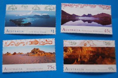 AUSTRALIA-Peisaje-serie  completa-nestamp,-mnh foto