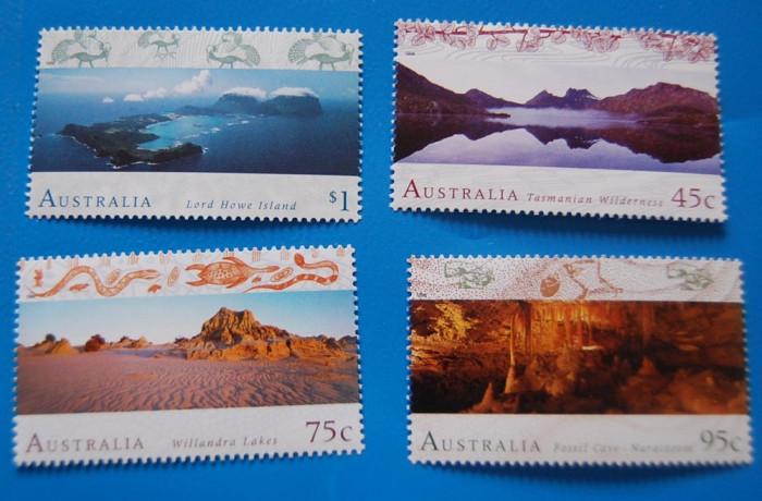 AUSTRALIA-Peisaje-serie  completa-nestamp,-mnh foto mare