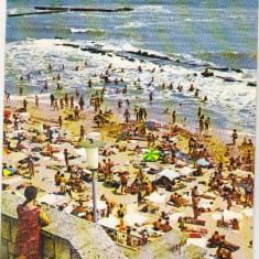 Bnk cp Eforie Nord - Plaja - uzata - Carte Postala Dobrogea dupa 1918, Circulata, Printata
