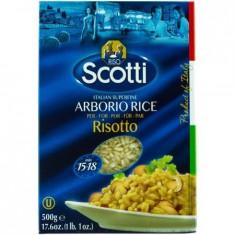 Orez Arborio pentru risotto Scotti, 500g