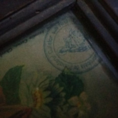 Icoana veche sfintita,marcata de Ministerul Cultelor,litografie veche,Tp.GRATUIT