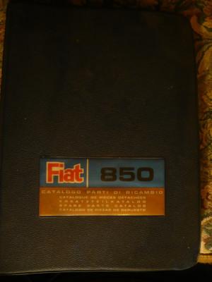 Catalog -Piese de schimb FIAT-850 - Ed. 1967 - desen de carte tehnica foto